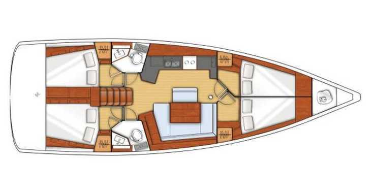Rent a sailboat in Paros - Oceanis 45