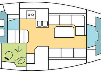 Chartern Sie segelboot Bavaria 34 Cruiser in Zaton Marina, Zaton
