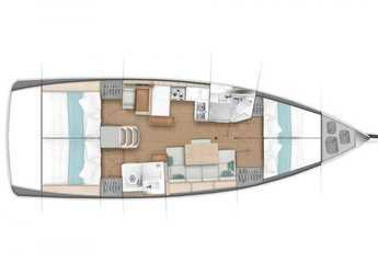 Rent a sailboat in Muelle de la lonja - Sun Odyssey 440