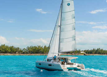 Rent a catamaran in ACI Marina Slano - Lagoon 42 (2018) equipped with generator, A/C (saloon+cabins), water maker, bow thruster