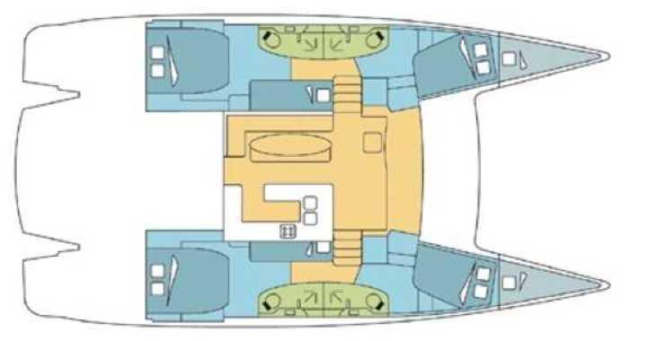 Rent a catamaran in Palm Cay Marina - Salina 48