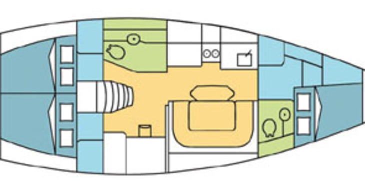 Rent a sailboat in Marina Le Marin - Harmony 42