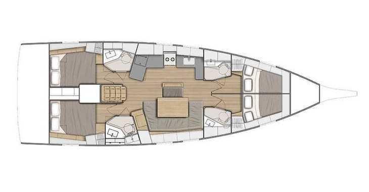 Rent a sailboat in Marina Skiathos  - Oceanis 46.1