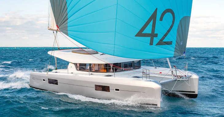 Rent a catamaran in Marina Skiathos  - Lagoon 42 AC/ GEN/ WATERMAKER