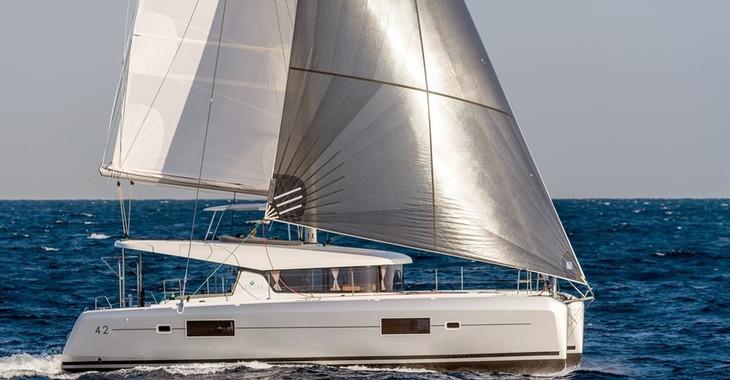 Rent a catamaran Lagoon 42 in Maya Cove, Hodges Creek Marina, Tortola East End