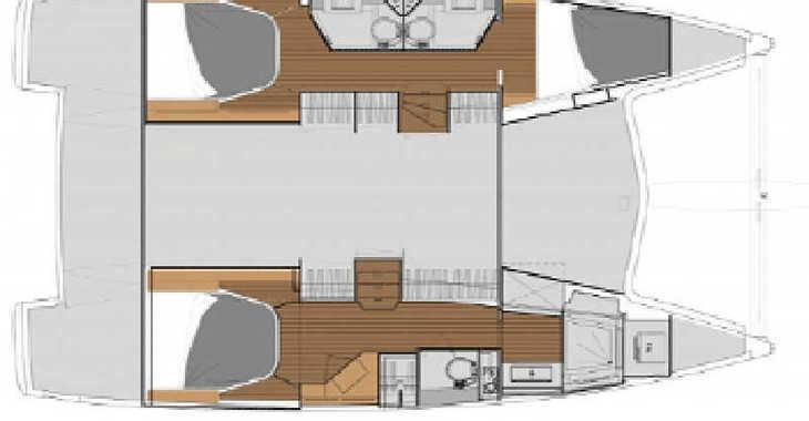 Rent a catamaran in Marina Palamos - Lucia 40