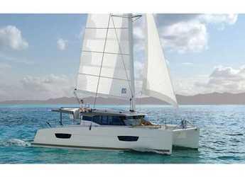 Rent a catamaran in Muelle de la lonja - Lucia 40 (3Cab)