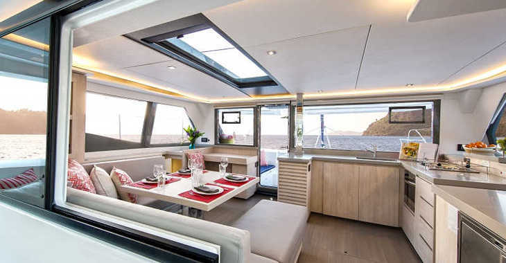 Rent a catamaran in Paradise harbour club marina - Sunsail 454L (Premium)