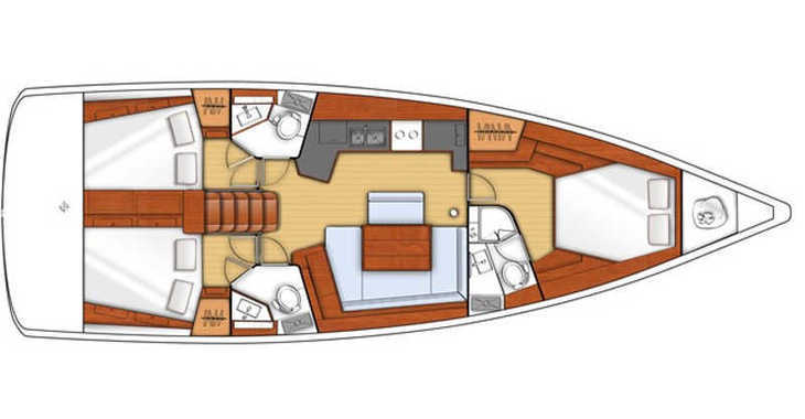 Rent a sailboat in Mykonos - Oceanis 45/3 Cbs