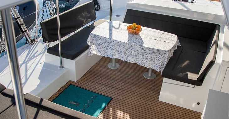 Rent a catamaran in Marina Frapa - Lagoon 450 F (2019) ANJA equipped with generator, A/C (saloon+cabins), water maker, washer/dryer, dishwasher, microwave oven