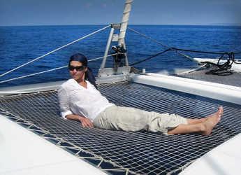 Chartern Sie katamaran in Club Náutico Ibiza - Lagoon 380