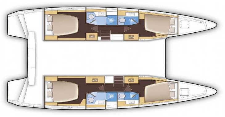 Rent a catamaran in Paros - Lagoon 42
