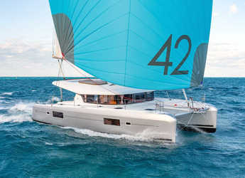 Rent a catamaran in Marina Skiathos  - Lagoon 42 (A/C, Watermaker, Gen)