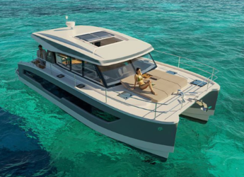 Rent a power catamaran  in Alimos Marina Kalamaki - Motor Yacht 4.S