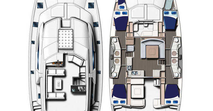 Rent a power catamaran  in Paradise harbour club marina - Moorings 514 PC  (Exclusive)