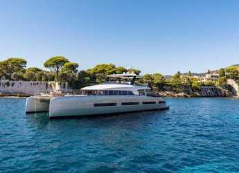 Rent a power catamaran  in Anse Marcel Marina (Lonvilliers) - Lagoon Seventy 8