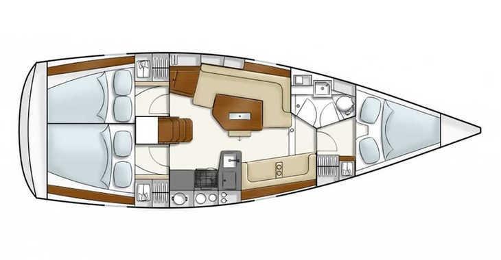 Rent a sailboat Hanse 350 in Port Mahon, Mahon