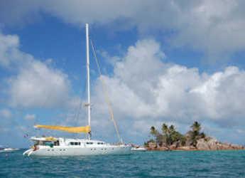 Rent a catamaran Mojito 82 in Eden Island Marina, Mahé