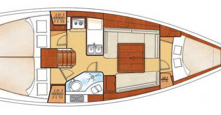 Rent a sailboat in Marina Mandalina - Oceanis 34
