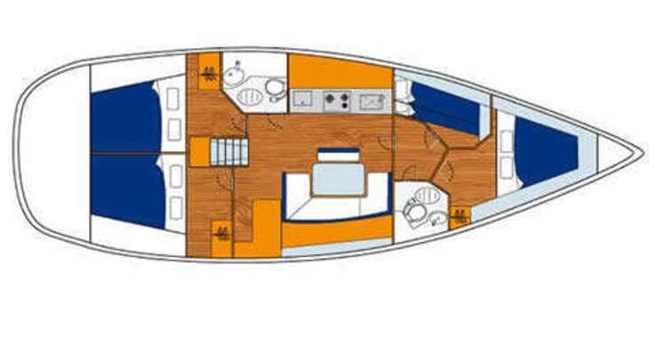 Alquilar velero Beneteau Cyclades 43 en ACI Marina Split, Split city