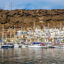 Thumb port puerto de mogan gran canaria spain yachts traditional colorful buildings canary islands 69520282